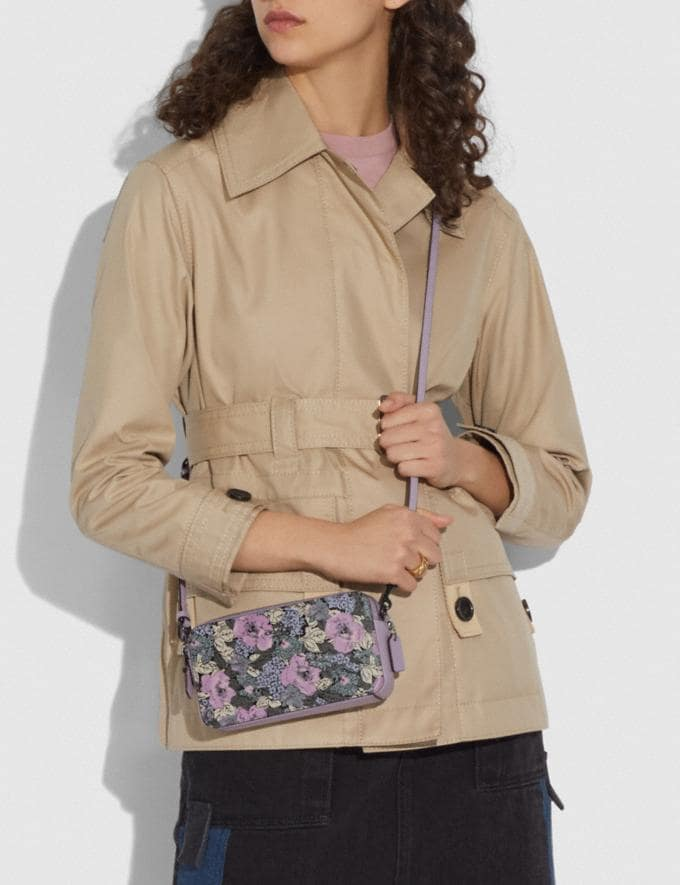 Coach Kira Crossbody With Heritage Floral Print Pewter/Soft Lilac Multi New Women's New Arrivals Bags Alternate View 3