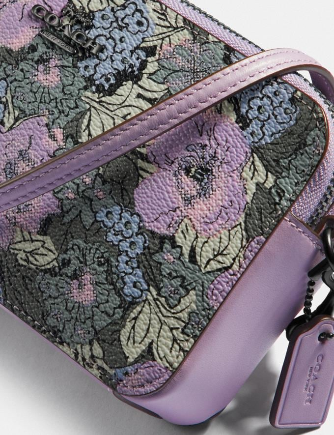 Coach Kira Crossbody With Heritage Floral Print Pewter/Soft Lilac Multi New Women's New Arrivals Bags Alternate View 4