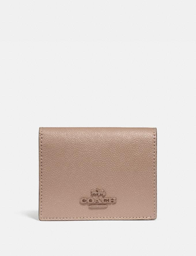 Coach Small Snap Wallet Brass/Taupe Women Small Leather Goods Small Wallets