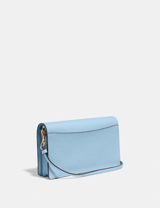 Coach Hayden Foldover Crossbody Clutch Pewter/Waterfall Women Handbags Crossbody Bags Alternate View 1