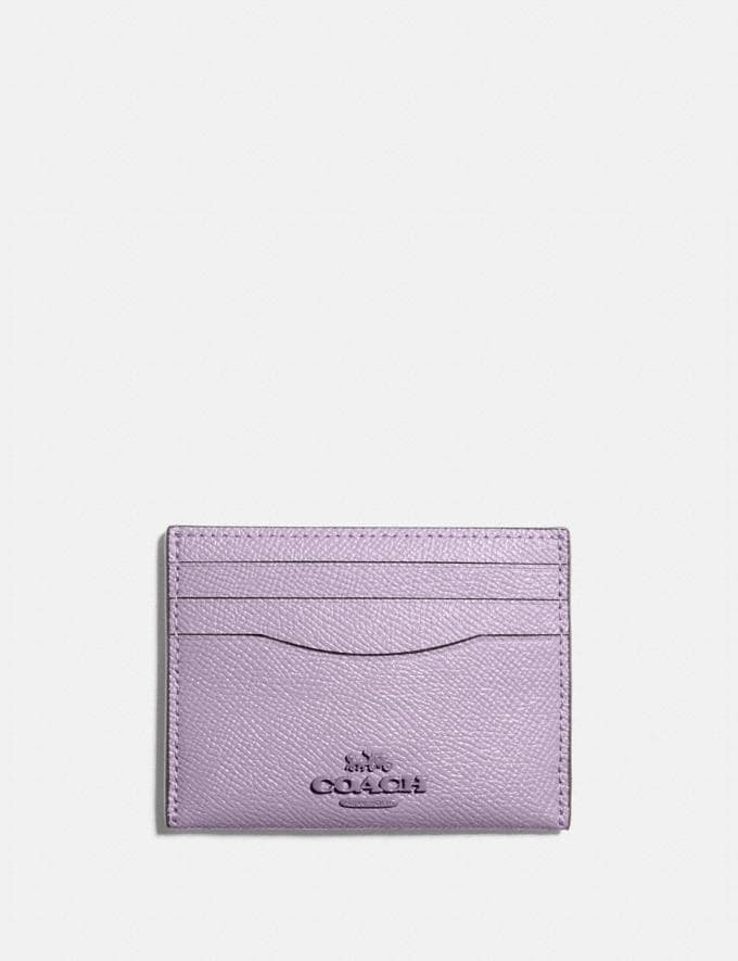 Coach Card Case B4/Soft Lilac New Women's New Arrivals