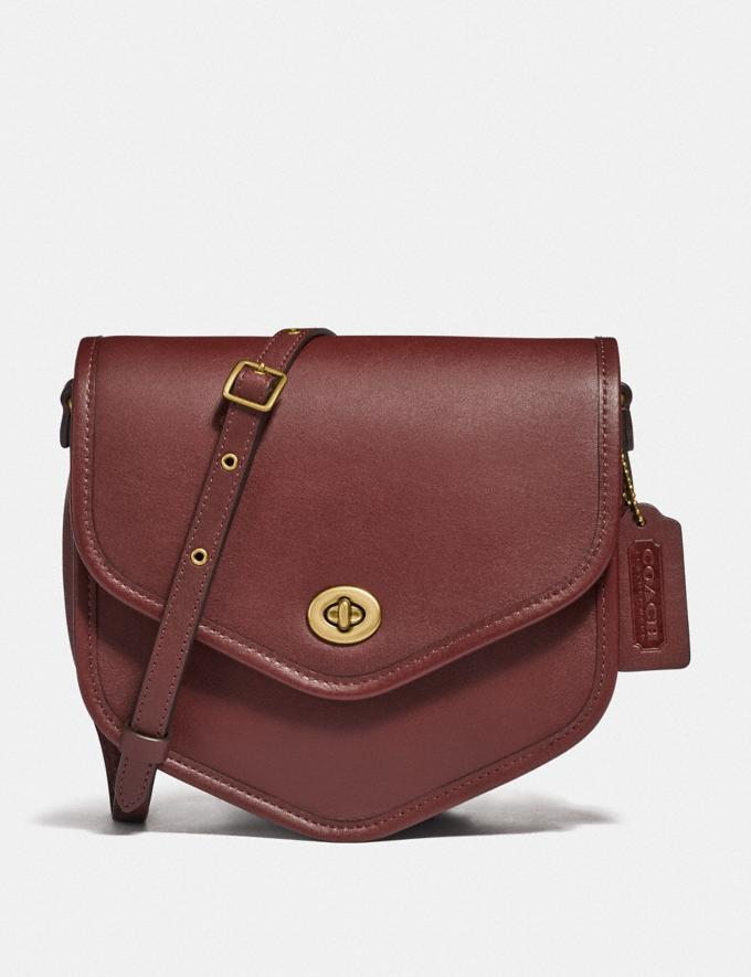 Coach Buy Now Turnlock Flap Pouch Cranberry Red/Brass New Featured Spring 2020 Exclusives
