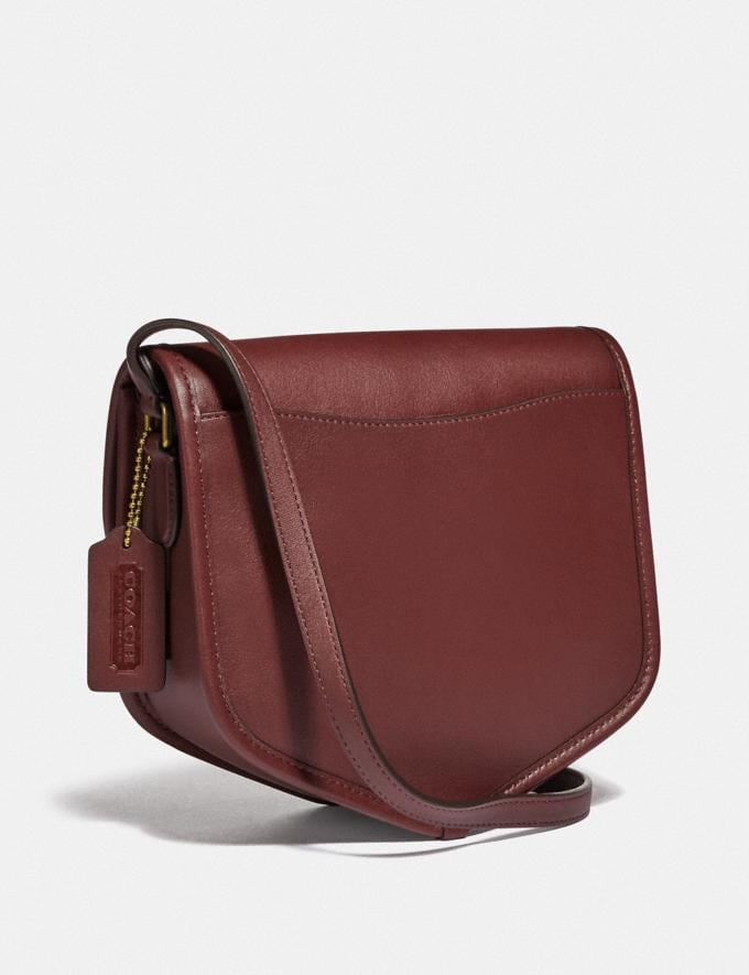 Coach Buy Now Turnlock Flap Pouch Cranberry Red/Brass New Featured Spring 2020 Exclusives Alternate View 1