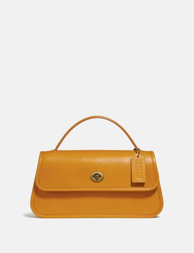 Coach Buy Now Turnlock Clutch Yolk/Brass New Featured Spring 2020 Exclusives