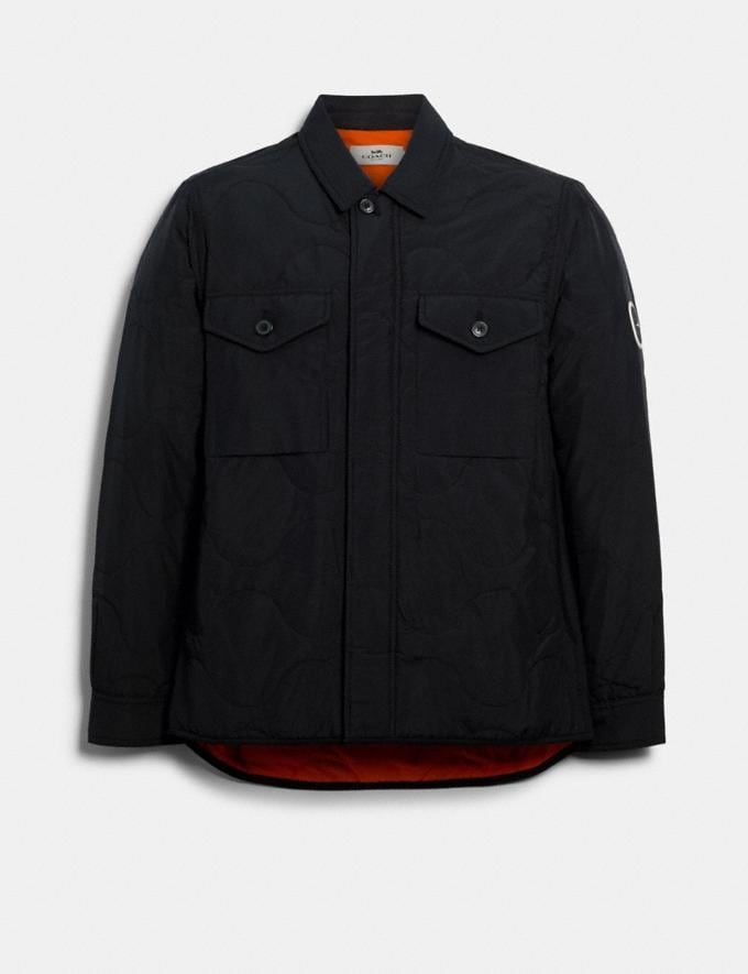 Coach Quilted Shirt Jacket Black