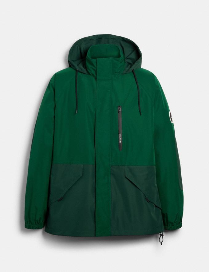 Coach Rain Reactive Windbreaker Leaf Green Deep Green