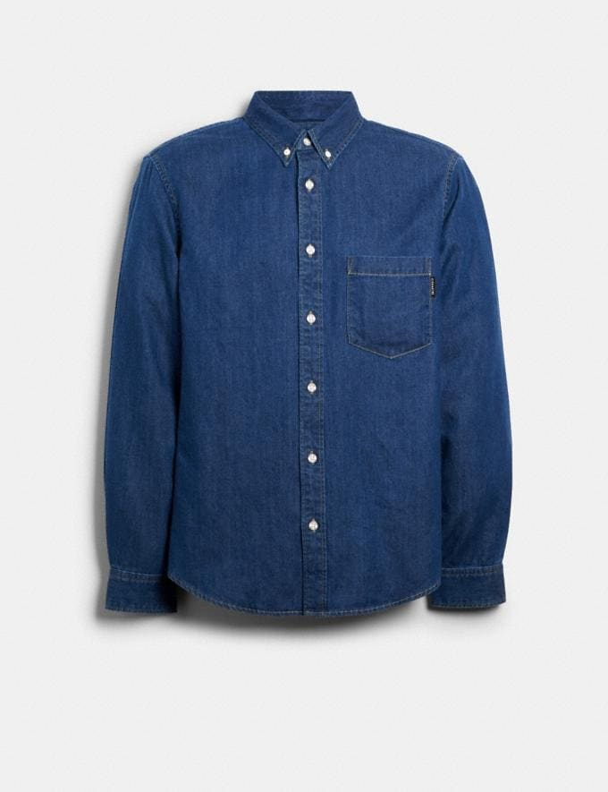 Coach Denim Shirt Blue