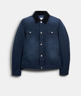 WASHED DUCK TRUCKER JACKET