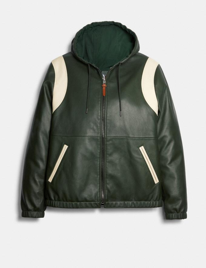 Coach Reversible Leather Varsity Trainer Deep Green