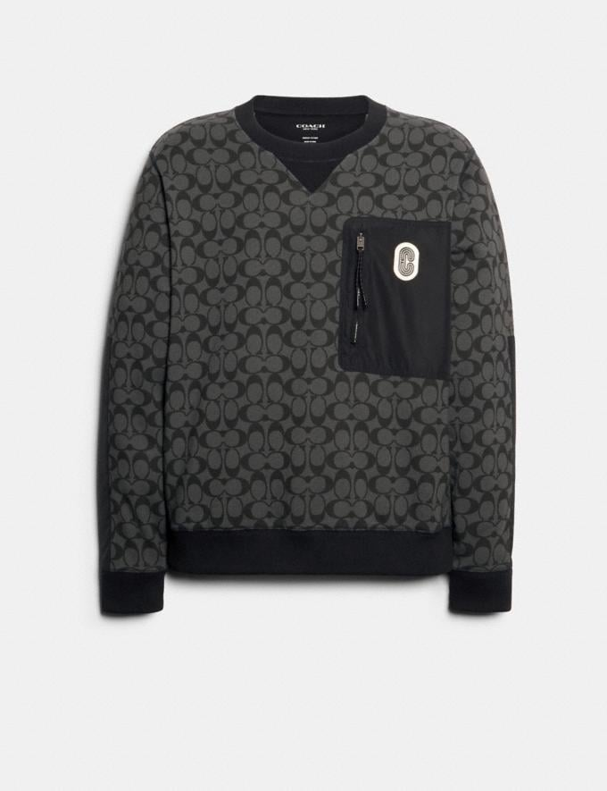 Coach Mixed Media Sweatshirt Black Signature