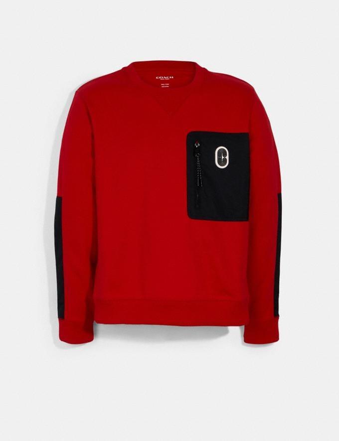 Coach Mixed Media Sweatshirt Haute Red