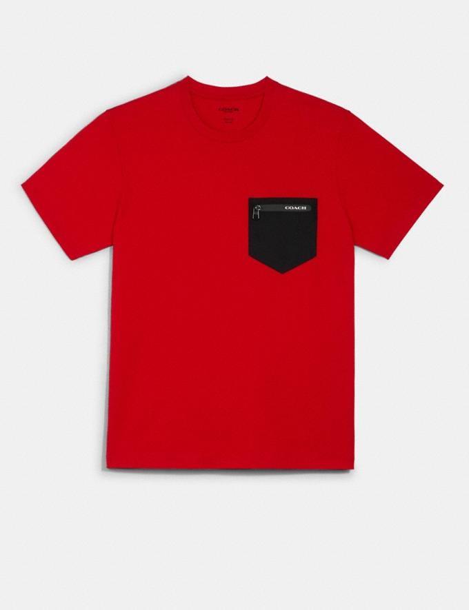 Coach Mixed Media T-Shirt Haute Red