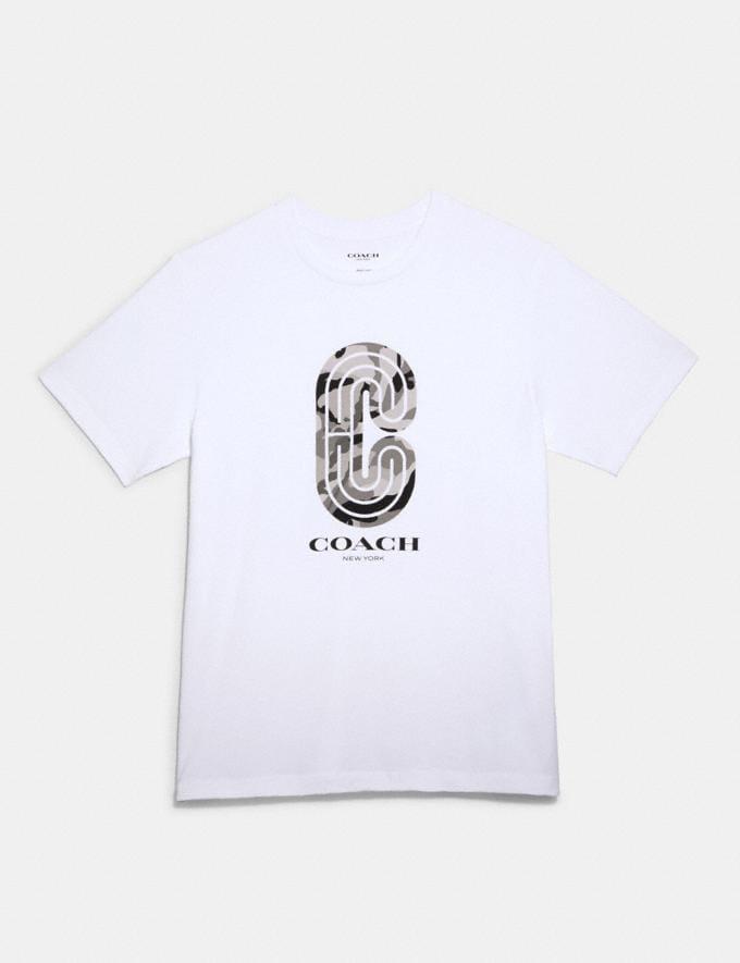 Coach Camo Retro Sport T-Shirt White