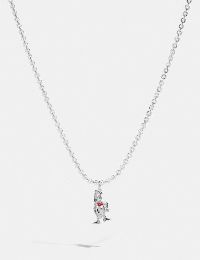 Coach Disney X Coach Donald Duck Necklace Silver New Featured Disney X Coach