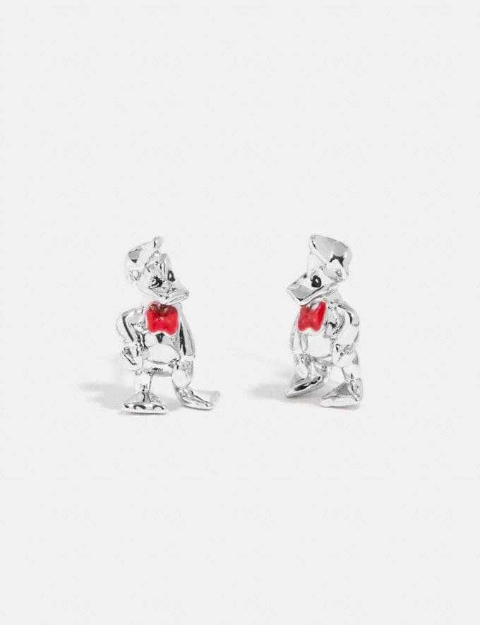 Coach Disney X Coach Donald Duck Earrings Silver New Featured Disney X Coach
