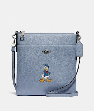 DISNEY X COACH KITT MESSENGER CROSSBODY WITH DONALD DUCK MOTIF