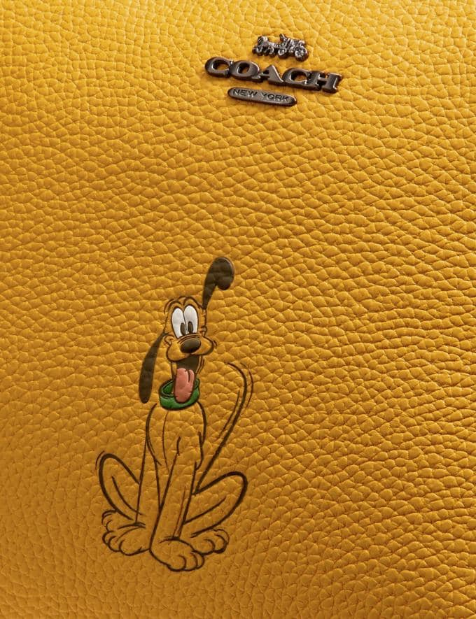 Coach Disney X Coach Charlie Pouch With Pluto Motif Pewter/Flax New Featured Disney X Coach Alternate View 3