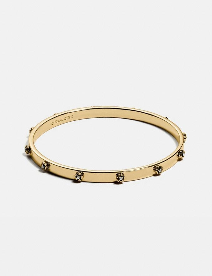 Coach Tea Rose Bangle Gold New Women's New Arrivals Accessories