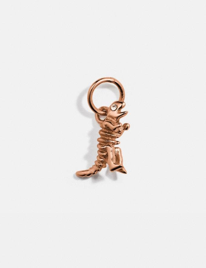 Coach Collectible Skeletal Rexy Charm Rose Gold Women Accessories Jewelry & Watches