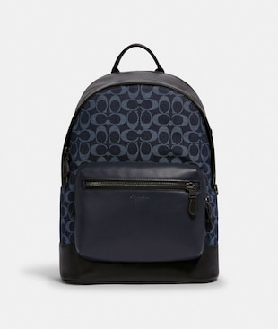 WEST BACKPACK IN SIGNATURE DENIM