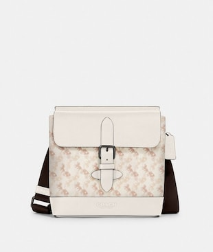 HUDSON CROSSBODY WITH HORSE AND CARRIAGE PRINT
