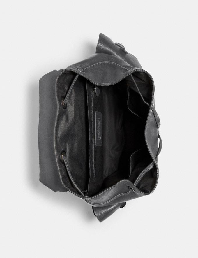 Coach Hudson Backpack Qb/Industrial Grey Men Alternate View 1