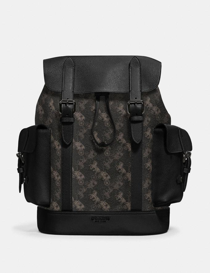 Coach Hudson Backpack With Horse and Carriage Print Qb/Black Multi Men