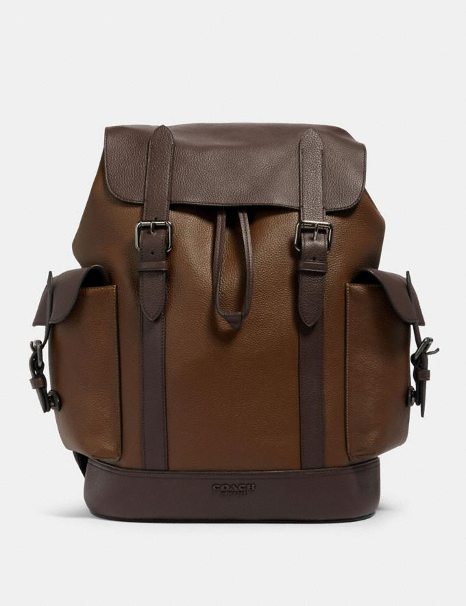 Coach Hudson Backpack in Colorblock Qb/Tobacco Mahagony