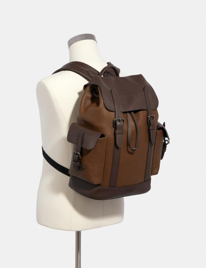 Coach Hudson Backpack in Colorblock Qb/Tobacco Mahagony  Alternate View 2
