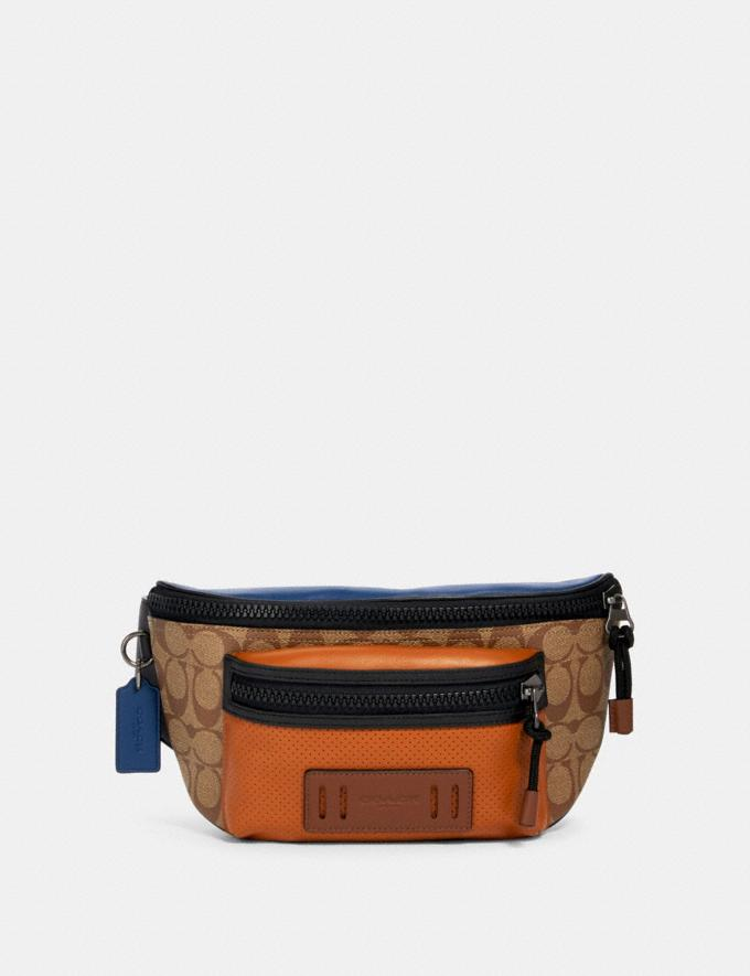 Coach Terrain Belt Bag in Colorblock Signature Canvas Qb/Tan Burnt Sienna Multi