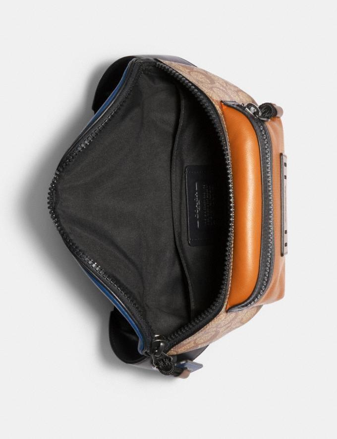 Coach Terrain Belt Bag in Colorblock Signature Canvas Qb/Tan Burnt Sienna Multi  Alternate View 1