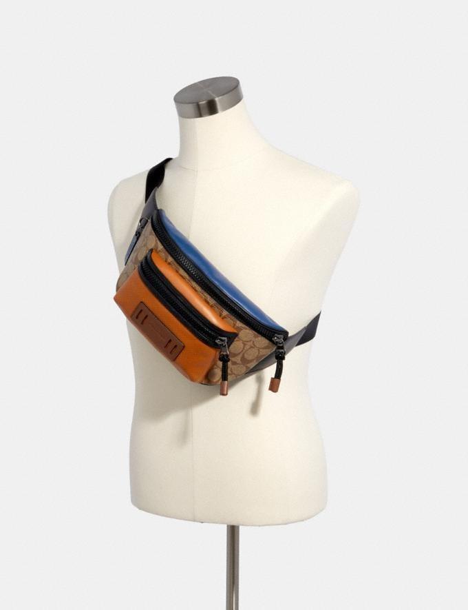 Coach Terrain Belt Bag in Colorblock Signature Canvas Qb/Tan Burnt Sienna Multi  Alternate View 2