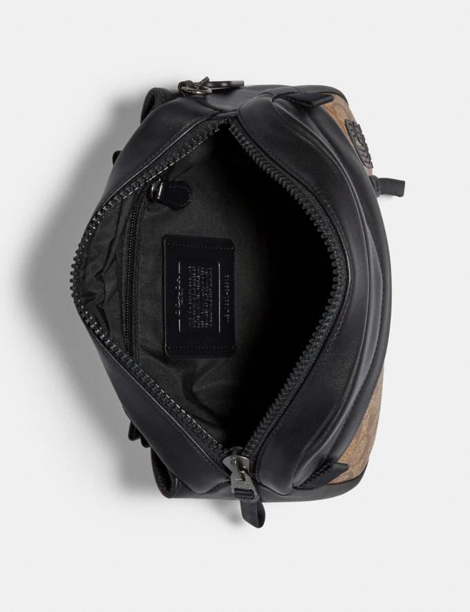 Coach Edge Belt Bag in Signature Canvas Qb/Tan Explore Men Explore Men Bags Alternate View 1