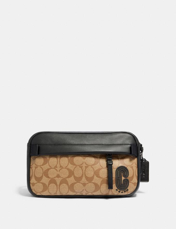 Coach Edge Belt Bag in Signature Canvas Qb/Tan Explore Men Explore Men Bags