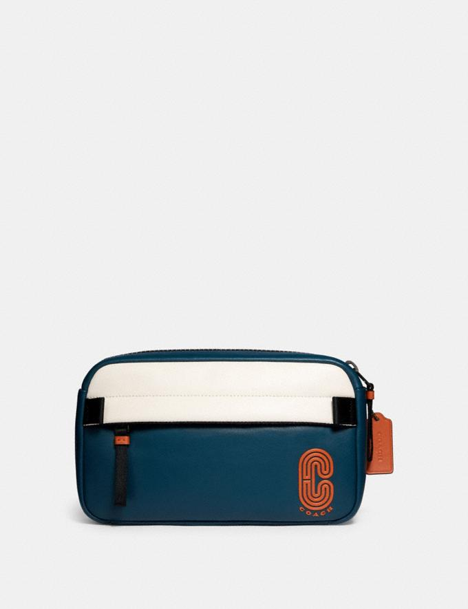 Coach Edge Belt Bag in Colorblock Qb/Aegean/Chalk/Orange Clay