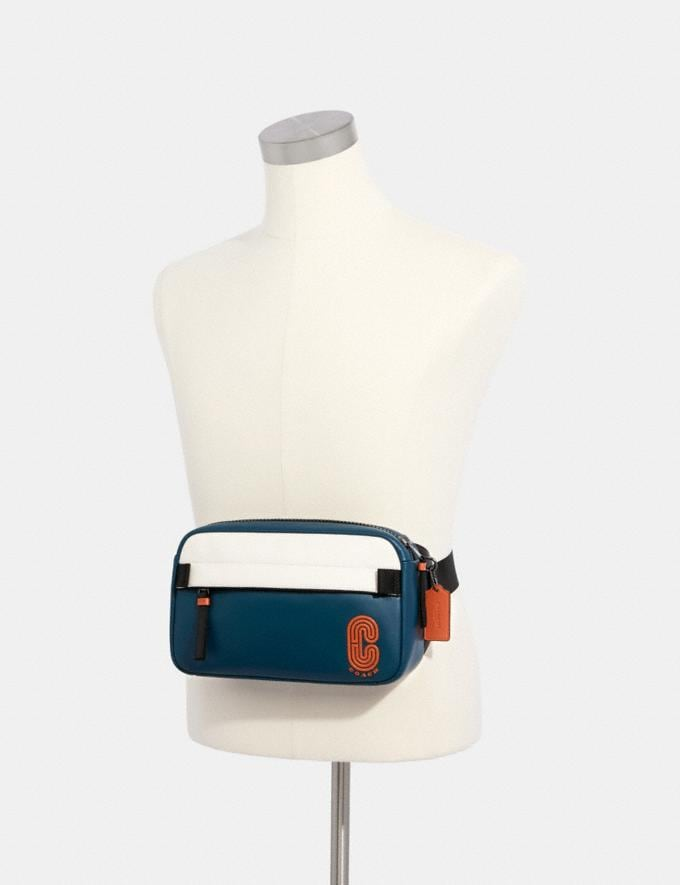 Coach Edge Belt Bag in Colorblock Qb/Aegean/Chalk/Orange Clay  Alternate View 2