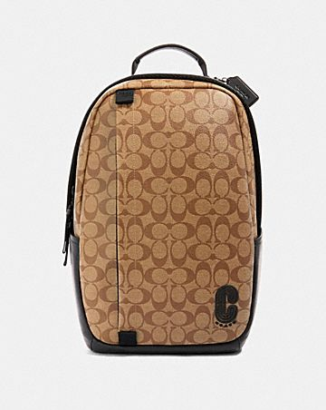 edge backpack in signature canvas