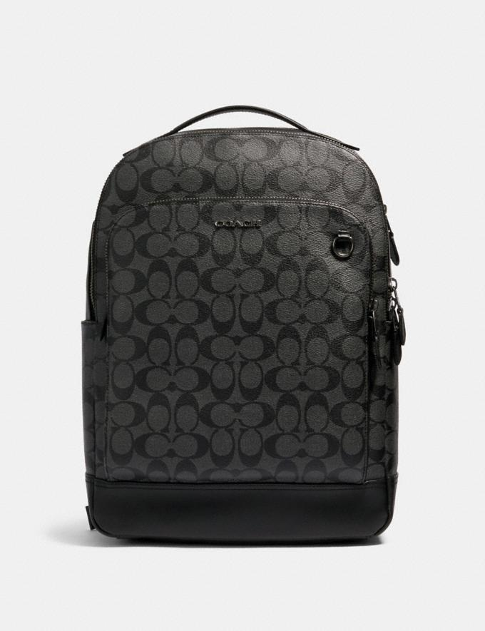 Coach Graham Backpack in Signature Canvas Qb/Charcoal/Black DEFAULT_CATEGORY
