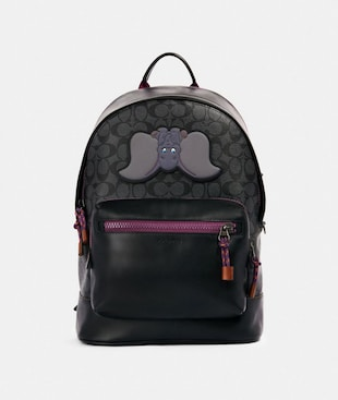 DISNEY X COACH WEST BACKPACK IN SIGNATURE CANVAS WITH DUMBO