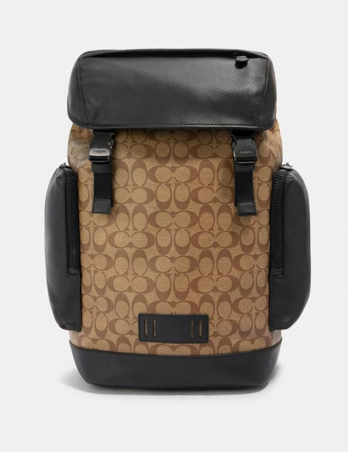 Coach Ranger Backpack in Signature Canvas Qb/Tan