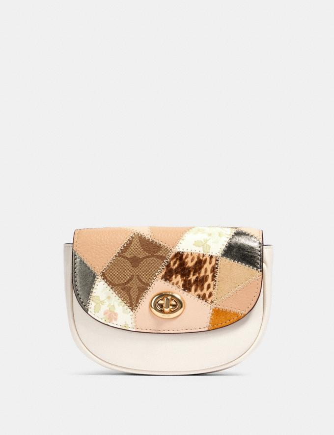 Coach Mini Belt Bag With Patchwork Im/Chalk Multi