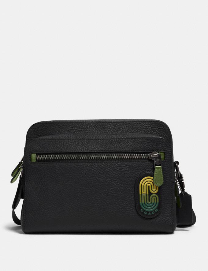 Coach West Camera Bag in Colorblock With Coach Patch Qb/Black Multi Men