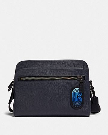 west camera bag in colorblock with coach patch