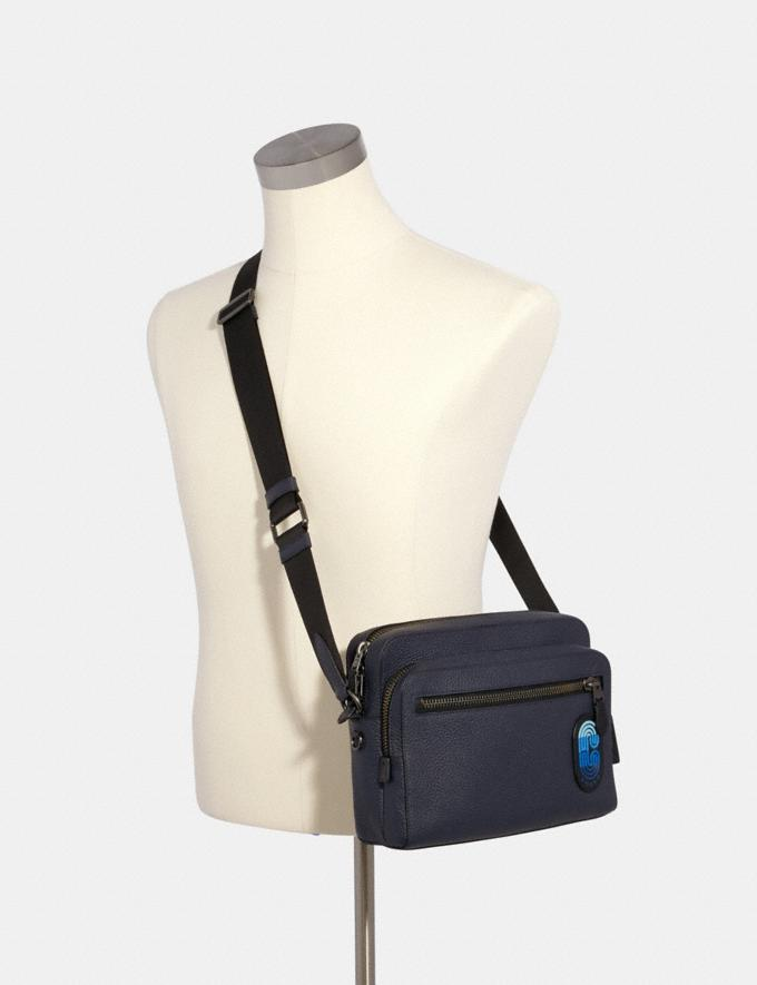 Coach West Camera Bag in Colorblock With Coach Patch Qb/Midnight Navy Multi Men Alternate View 2