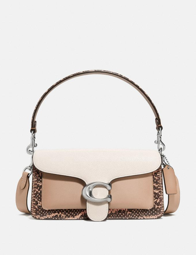 Coach Tabby Shoulder Bag 26 With Colorblock Snakeskin Detail Light Nickel/Taupe Multi Women Handbags