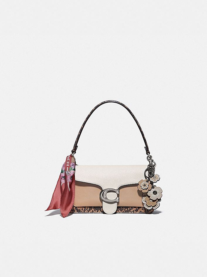 TABBY SHOULDER BAG 26 WITH COLORBLOCK SNAKESKIN DETAIL