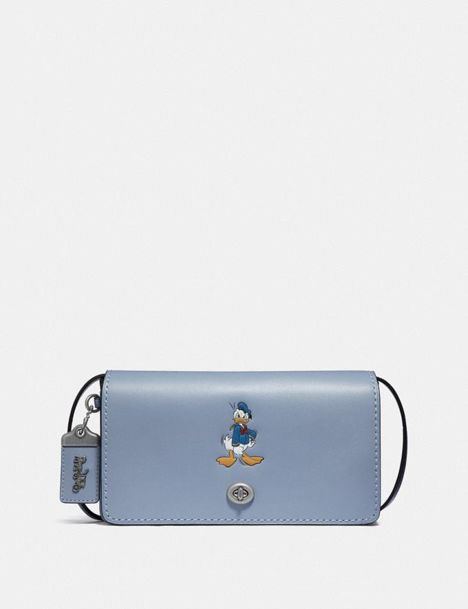 Coach Disney X Coach Dinky With Donald Duck Motif Light Nickel/Bluebell New Featured Disney X Coach