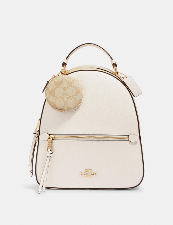 Coach Circular Coin Pouch Bag Charm in Signature Canvas Im/Light Khaki  Alternate View 1
