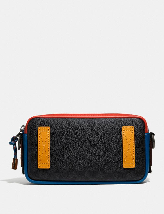 Coach Pacer Slim Pouch in Signature Canvas Charcoal Signature Multi SALE Private Event Men's Alternate View 2