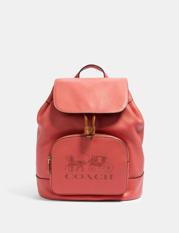 Coach Jes Backpack Im/Bright Coral